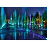 Colorful Lamps Marble Musical Dancing Fountain , Light Up Fountain For Uptown Manufactures