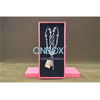 Solid Luxury Cardboard Jewelry Boxes , Removable Insert Pads For Necklace Manufactures
