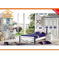 China buy mdf cheap children storage twin bunk bed with trundle kids bedroom furniture on sale