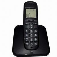 LCD Cordless Telephone with Phone Book, White LCD Backlight Color Manufactures