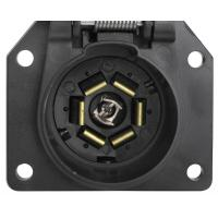7 Way Trailer Electrical Socket 7 Blade Trailer Connector With Cover Manufactures