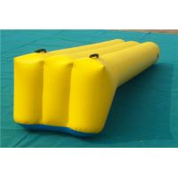China Playing Center Inflatable Water Games Outdoor Bouncy Water Slides For Teens Yellow on sale