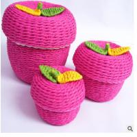 China Woven Paper rope storage box on sale