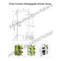 3 function bathroom mixer tap,chrome brass wall mounted rain concealed shower set with handle