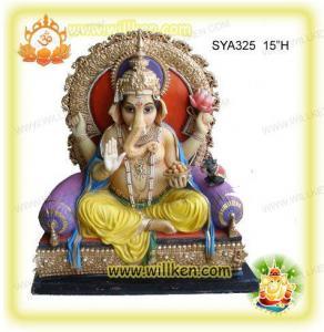 Polyresin Hindu God Statues-sitting Ganesh Murti Manufactures