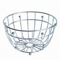 Stainless Steel Fruit Basket for Storage and Home Decoration, OEM Orders Accepted Manufactures