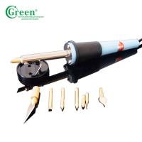 400℃ Pyrography Electric Pen Wood Burning Kit Temperature Adjustable Green PS0800 Manufactures