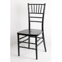 Fashion Black UV Protection Resin Chiavari Chair / Indoor Armless Furniture Chair Manufactures