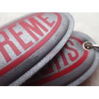 Custom Silver Reflective Screen Printed Keyring Chain For Promotion Gift Manufactures