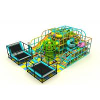 China Steel Pipe + LLDPE Kids Indoor Playground Equipment With Spider Net Towel KP170119 on sale