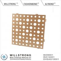 Gold AA1100 3003 H24 Suspended Aluminum Ceiling Panels For Indoor Building Manufactures