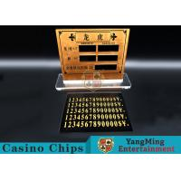 Buy cheap Casino Dragon And Tiger High-Grade Pure Copper Entertainment Bet Card Table Limit Sign from wholesalers