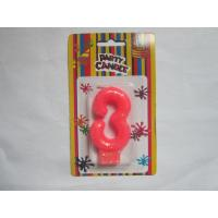 Pink NO Three Number Birthday Candles 19.3g Glittering Paraffin Wax For Party Manufactures