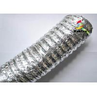 HVAC PET Aluminum Foil Flexible Air Conditioning Duct , 2 inch 4 inch 5 inch Flexible Duct Manufactures