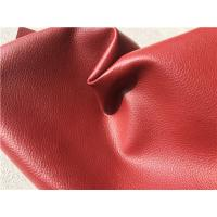 China Red Embossing Flocking Leather Car Upholstery Fabric With 30% PU Coating wholesale