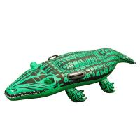 """Super Safe Giant Gator Ride-On Pool Float , Inflatable Swimming Toy for Kids 51"""" X 16"""" Manufactures"""