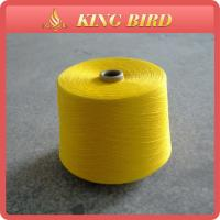 China Dope 100% Polyester Ring Spun Polyester Yarn / Knitting Yarn on sale