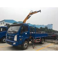Factory sale best price YUEJIN 3tons knuckle crane boom mounted on truck, YUEJIN hydraulic folded truck with crane Manufactures