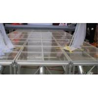 Portable Glass Acrylic Stage Platform For Performances 1.22 * 2.44M Manufactures