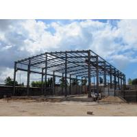 China Light Steel Structure Warehouse With Crane / Prefabricated Metal Building With Crane on sale