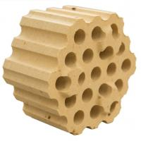 Sintered high alumina 37 holes checker bricks for steel & iron melting plant Manufactures