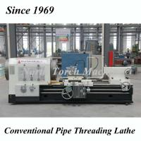 Flat Bed Pipe Threading Lathe Machine For Threading 355 Spindle Hole Pipe Manufactures
