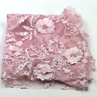 heavy embroidery flowers organza lace fabric, french Lace mesh Fabric,African bridal lace Manufactures