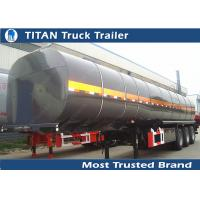 5mm Thickness Tank asphalt bitumen heavy oil tanker trailer with heating device Manufactures