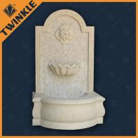Wall Mosaic Natural Stone Water Fountains , White Marble Fountain Manufactures