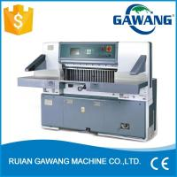 China Microcomputer Double Guide A4 A3 Paper Cutting Machine on sale