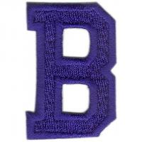 Embroidery capital letter badge