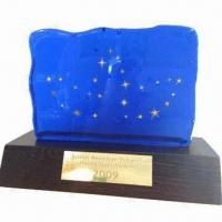 Blue Crystal Iceberg Trophy Award, Various Designs are Available Manufactures