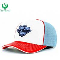 Eco - Friendly Custom Fitted Baseball Hats 2D Flat Embroidered Logo Advertising Manufactures