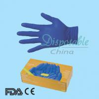 China Nitrile disposable glove/powder free nitrile examination gloves/dark blue nitrile gloves on sale