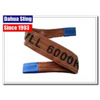 Foldable Custom Lifting Belts With Reinforced Lifting Eyes Color Coded Manufactures