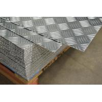 5052 5 Bars Aluminum Checker Sheet Plate Used For Non Slip Staircase Manufactures