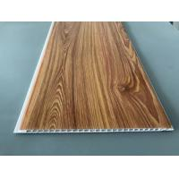 Waterproof Wooden Color Decorative PVC Panels Easy Cleaning And Maintenance Manufactures
