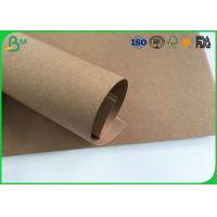 Grade AAA Kraft Brown Paper Roll , Test Liner Paper For Making Corrugated Box Manufactures