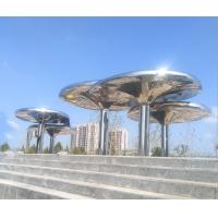 316L Stainless Steel Large Outdoor Garden Statues 3M height Abstract Style Manufactures
