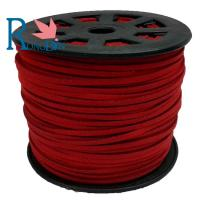 Top quality hot sale 3mm  Faux Flat Suede Leather Cord Manufacturer For Jewelry Making Red Manufactures