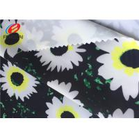 China Flower Printed Stretch Polyester Spandex Fabric For Derss , 50D + 40D Yarn Count on sale