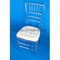 Fireproof Clear Resin Chiavari Chair With Cushion / Ergonomic Office Chairs Manufactures