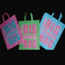 China silk screen non woven shopping bag wholesale