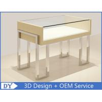 High End Mirror Stainl Steel Jewelry Store Counter With lock Manufactures