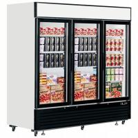 China High Efficiency Upright Glass Door Freezer Long Handle Showcase Refrigeration Display Case on sale