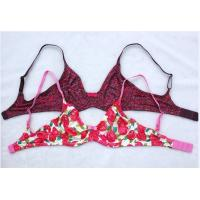 Cotton / Polyester / Spandex Bamboo Fiber Personalized 40C Printed Womens Underwear Bras Manufactures