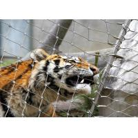 Buy cheap Stainless Steel 316 / 316L Zoo Mesh , Protective Tiger cage Enclosure Fencing from wholesalers