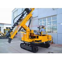 50M depth hydraulic photovoltaic pile hole drilling rig , Crawler mounted SOLAR pile hole drilling equipment Manufactures