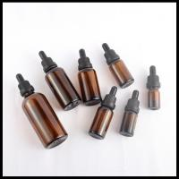 Amber Essential Oil Bottles Tamperproof cap Round Glass Dropper 30ml 50ml 100ml Manufactures