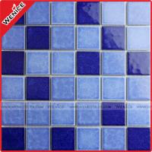 China China dark blue swimming pool mosaic tiles on sale
